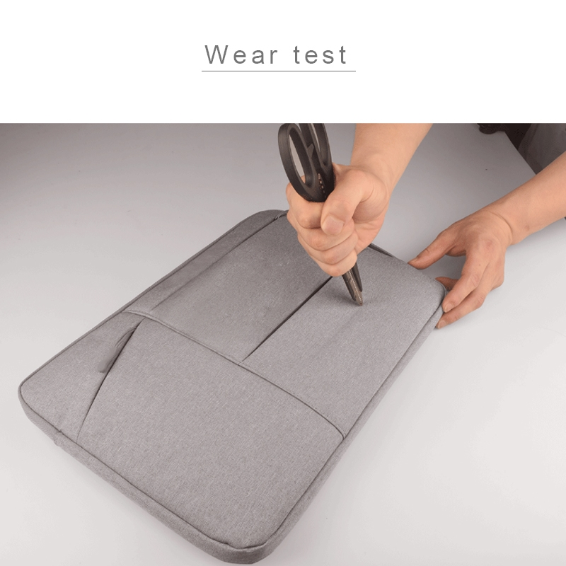 Universal Multiple Pockets Wearable Oxford Cloth Soft Portable Simple Business Laptop Tablet Bag, For 15.6 inch and Below Macbook, Samsung, Lenovo, Sony, DELL Alienware, CHUWI, ASUS, HP (Light Grey)