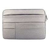 Universal Multiple Pockets Wearable Oxford Cloth Soft Portable Leisurely Laptop Tablet Bag, For 12 inch and Below Macbook, Samsung, Lenovo, Sony, DELL Alienware, CHUWI, ASUS, HP (Grey)