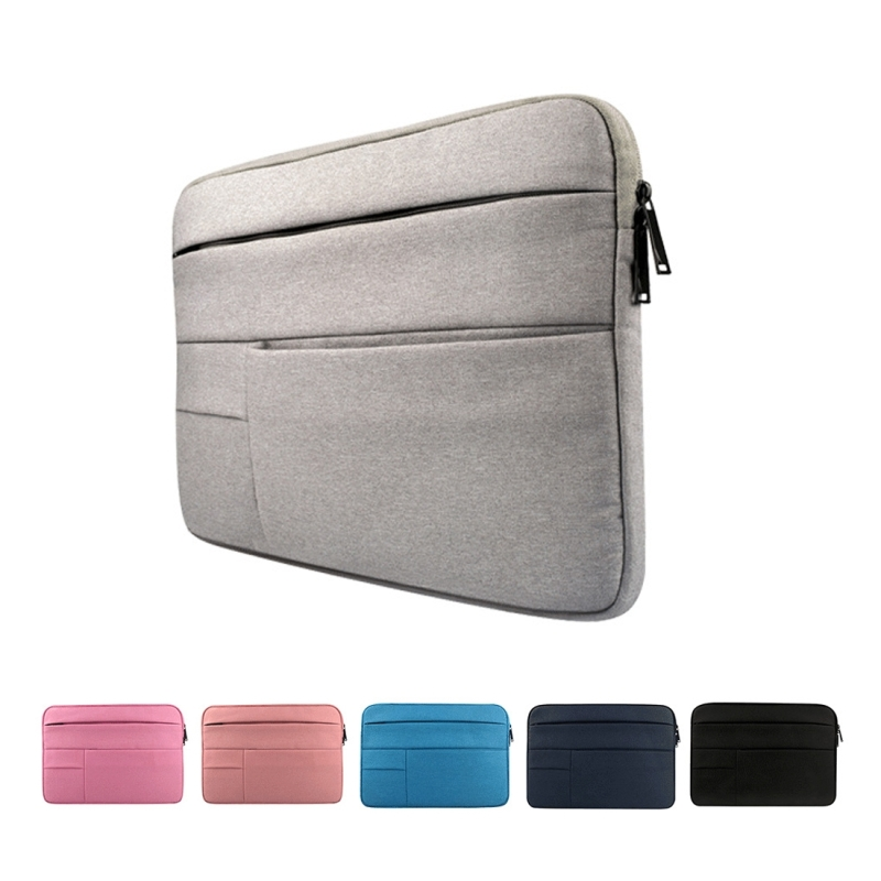 Universal Multiple Pockets Wearable Oxford Cloth Soft Portable Leisurely Laptop Tablet Bag, For 13.3 inch and Below Macbook, Samsung, Lenovo, Sony, DELL Alienware, CHUWI, ASUS, HP (Pink)