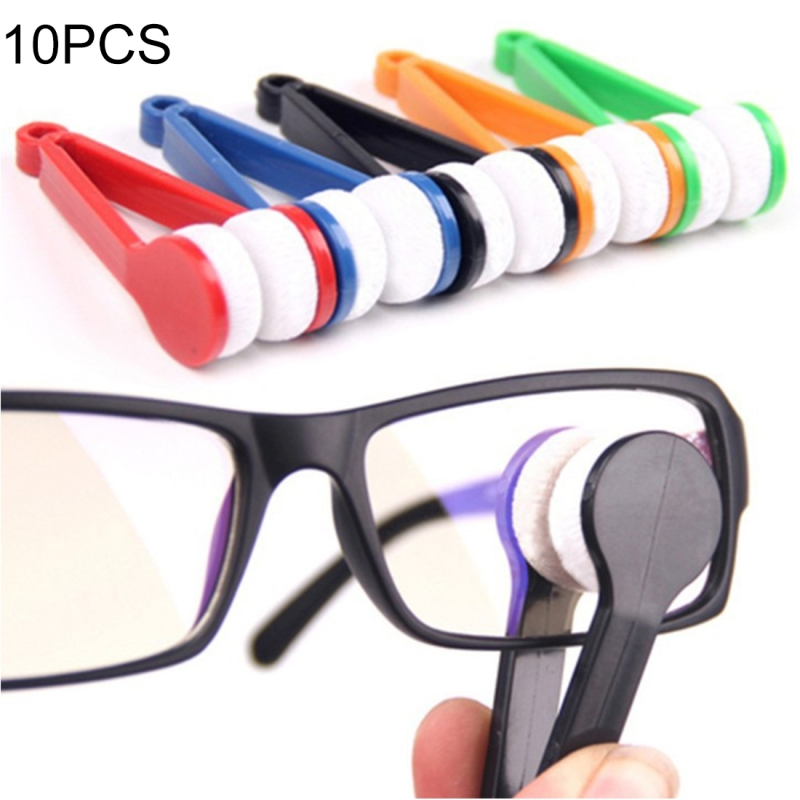 10 PCS Multifunction Portable Glasses Wipe Glasses Clean Wipe Microfiber Cleaning Cloth