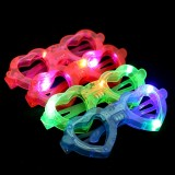 6 PCS New Funny Party Decoration Plastic Fluorescent Glow Glasses, Creative Gifts LED Glow Toys Glasses