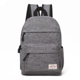 Universal Multi-Function Canvas Cloth Laptop Computer Shoulders Bag Leisurely Backpack Students Bag, 36x25x10cm, For 13.3 inch and Below Macbook, Samsung, Lenovo, Sony, DELL Alienware, CHUWI, ASUS, HP (Grey)