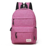 Universal Multi-Function Canvas Cloth Laptop Computer Shoulders Bag Leisurely Backpack Students Bag, 36x25x10cm, For 13.3 inch and Below Macbook, Samsung, Lenovo, Sony, DELL Alienware, CHUWI, ASUS, HP (Magenta)