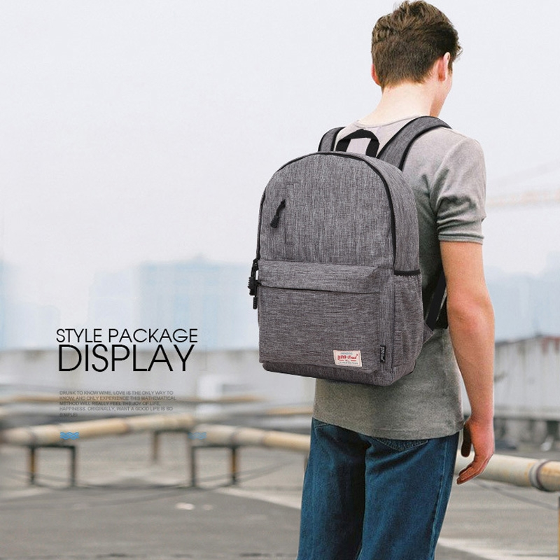 Universal Multi-Function Canvas Laptop Computer Shoulders Bag Leisurely Backpack Students Bag, Small 37x26x12cm, For 13.3 inch and Below Macbook, Samsung, Lenovo, Sony, DELL Alienware, CHUWI, ASUS, HP (Black)