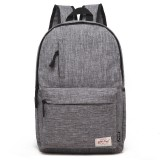 Universal Multi-Function Canvas Laptop Computer Shoulders Bag Leisurely Backpack Students Bag, Small 37x26x12cm, For 13.3 inch and Below Macbook, Samsung, Lenovo, Sony, DELL Alienware, CHUWI, ASUS, HP (Grey)