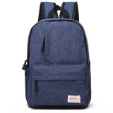 Universal Multi-Function Canvas Laptop Computer Shoulders Bag Leisurely Backpack Students Bag, Small 37x26x12cm, For 13.3 inch and Below Macbook, Samsung, Lenovo, Sony, DELL Alienware, CHUWI, ASUS, HP (Blue)