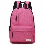 Universal Multi-Function Canvas Laptop Computer Shoulders Bag Leisurely Backpack Students Bag, Small 37x26x12cm, For 13.3 inch and Below Macbook, Samsung, Lenovo, Sony, DELL Alienware, CHUWI, ASUS, HP (Magenta)