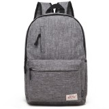 Universal Multi-Function Canvas Laptop Computer Shoulders Bag Leisurely Backpack Students Bag, Big 42x29x13cm, For 15.6 inch and Below Macbook, Samsung, Lenovo, Sony, DELL Alienware, CHUWI, ASUS, HP (Grey)