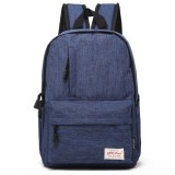 Universal Multi-Function Canvas Laptop Computer Shoulders Bag Leisurely Backpack Students Bag, Big 42x29x13cm, For 15.6 inch and Below Macbook, Samsung, Lenovo, Sony, DELL Alienware, CHUWI, ASUS, HP (Blue)