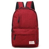 Universal Multi-Function Canvas Laptop Computer Shoulders Bag Leisurely Backpack Students Bag, Big 42x29x13cm, For 15.6 inch and Below Macbook, Samsung, Lenovo, Sony, DELL Alienware, CHUWI, ASUS, HP (Red)