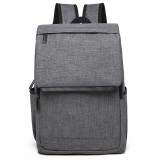 Universal Multi-Function Canvas Laptop Computer Shoulders Bag Leisurely Backpack Students Bag, 42x30x12cm, For 15.6 inch and Below Macbook, Samsung, Lenovo, Sony, DELL Alienware, CHUWI, ASUS, HP (Grey)