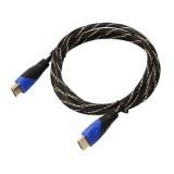 1.8m HDMI 1.4 Version 1080P Woven Net Line Blue Black Head HDMI Male to HDMI Male Audio Video Connector Adapter Cable