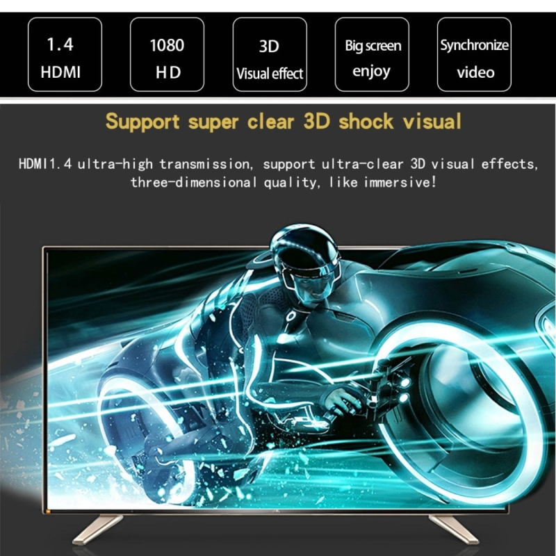 5m HDMI 1.4 Version 1080P Woven Net Line Blue Black Head HDMI Male to HDMI Male Audio Video Connector Adapter Cable with DVI Adapter Set