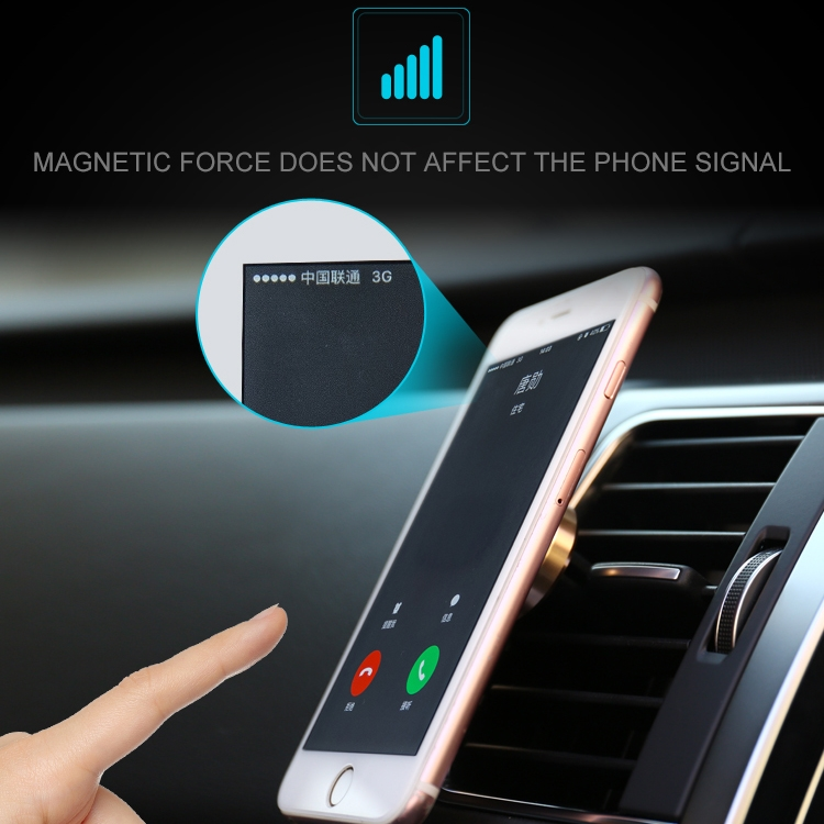 JOYROOM JR-ZS122 Universal Magnetic Car Air Outlet Vent Mount Phone Holder Stand, For iPhone, Galaxy, Sony, Lenovo, HTC, Huawei, and other Smartphones (Silver)