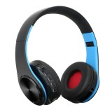BTH-818 Headband Folding Stereo Wireless Bluetooth Headphone Headset, for iPhone, iPad, iPod, Samsung, HTC, Sony, Huawei, Xiaomi and other Audio Devices (Black+Blue)