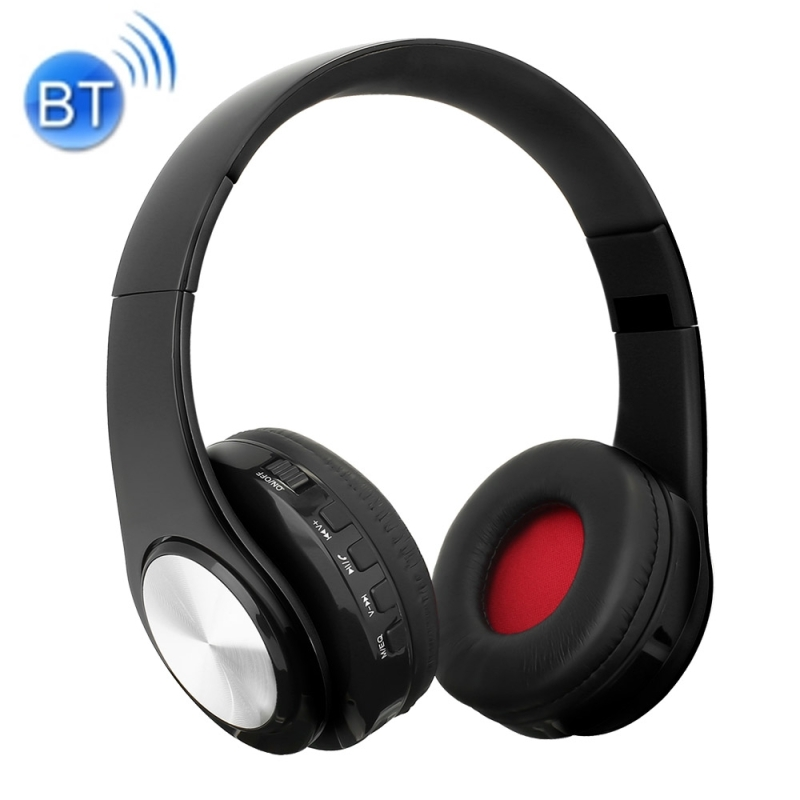 BTH-818 Headband Folding Stereo Wireless Bluetooth Headphone Headset, for iPhone, iPad, iPod, Samsung, HTC, Sony, Huawei, Xiaomi and other Audio Devices (Black+Silvery)