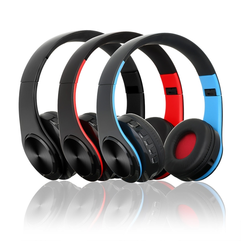 BTH-818 Headband Folding Stereo Wireless Bluetooth Headphone Headset, for iPhone, iPad, iPod, Samsung, HTC, Sony, Huawei, Xiaomi and other Audio Devices (Black)