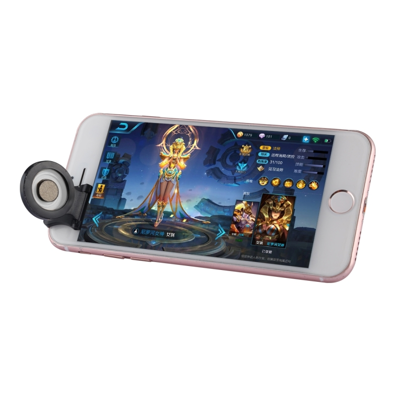 A9 Direct Mobile Clip Games Joystick Artifact Hand Travel Button Sucker with Ring Holder for iPhone, Android Phone, Tablet (Silver)