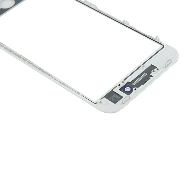 Replacement for iPhone 8 Front Screen Outer Glass Lens with Front LCD Screen Bezel Frame & OCA Optically Clear Adhesive (White)