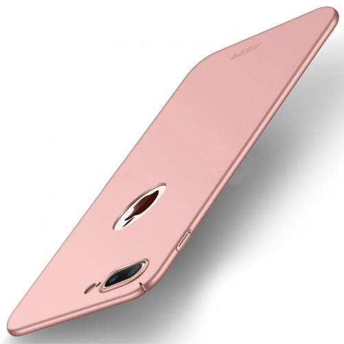 MOFI for iPhone 8 Plus Frosted PC Ultra-thin Edge Fully Wrapped Up Protective Case Back Cover (Rose Gold)