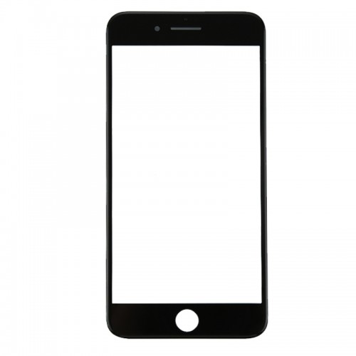 Replacement for iPhone 8 Plus Front Screen Outer Glass Lens with Front LCD Screen Bezel Frame & OCA Optically Clear Adhesive (Black)