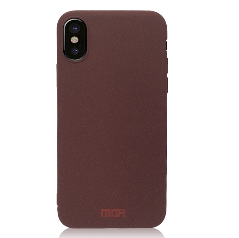 promo code d32dd d42ea MOFI for iPhone X TPU Silicone Soft Forsted Back Protective Case Cover  (Wine Red)
