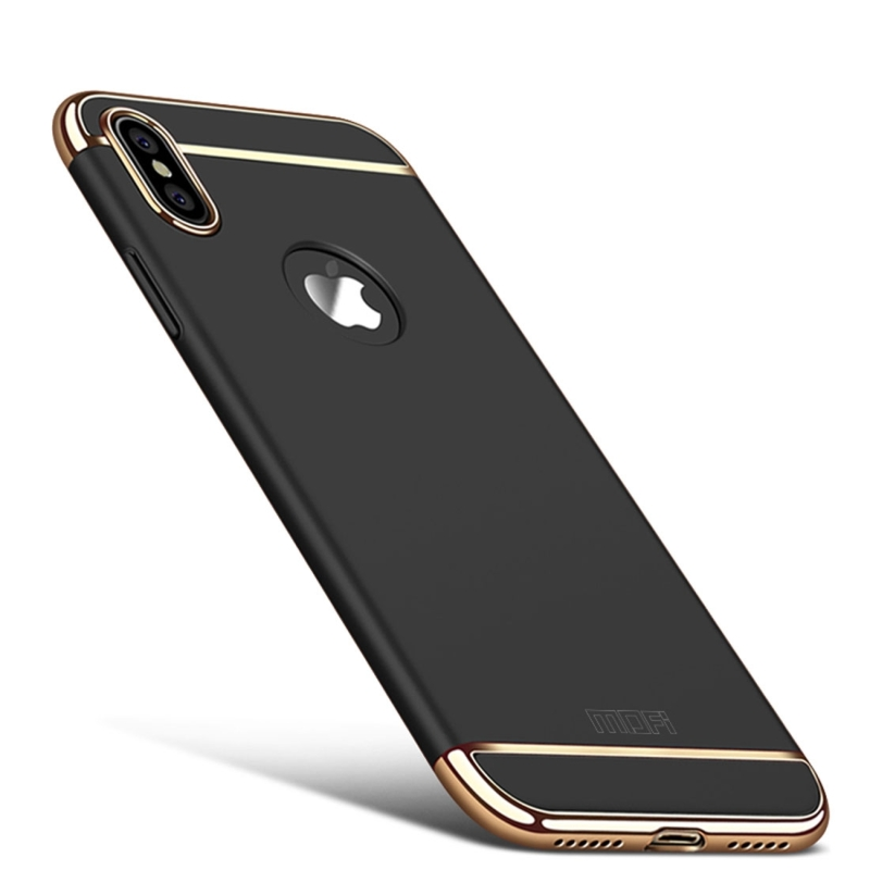 MOFI for iPhone X Three – paragraph Shield Full Coverage Protective Back Cover Case (Black ...