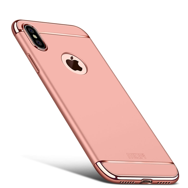 competitive price d556e fa1a9 MOFI for iPhone X Three – paragraph Shield Full Coverage Protective Back  Cover Case (Rose Gold)
