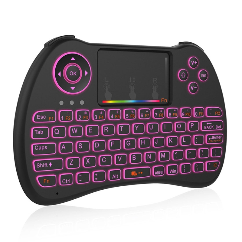 db9d55c6eca H9 2.4GHz Mini Wireless Air Mouse QWERTY Keyboard with Colorful Backlight &  Touchpad for PC · KB0079B_1. ...