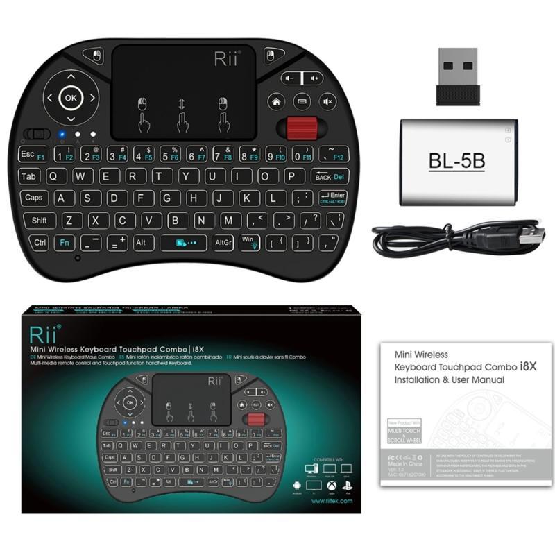 751894b0003 Rii I8X RT716 2.4GHz Mini Wireless QWERTY 71 Keys Keyboard 2.5 inch ...