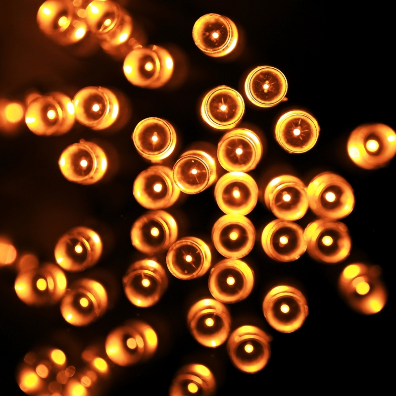 3m (Length) x 2m (Height) 12W 200 LEDs Reticular String Decoration Lights with End Joint & Multi-function Controller, EU Plug, AC 220V (Yellow Light)