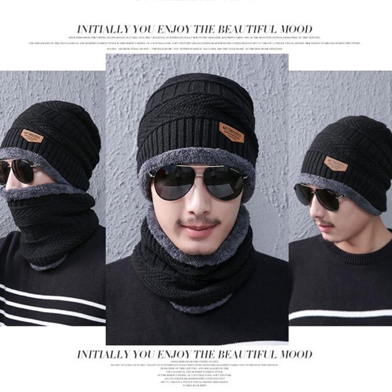 2e91d5aa23b Fashion Winter Unisex Town Wall Beanie Scarf Suit