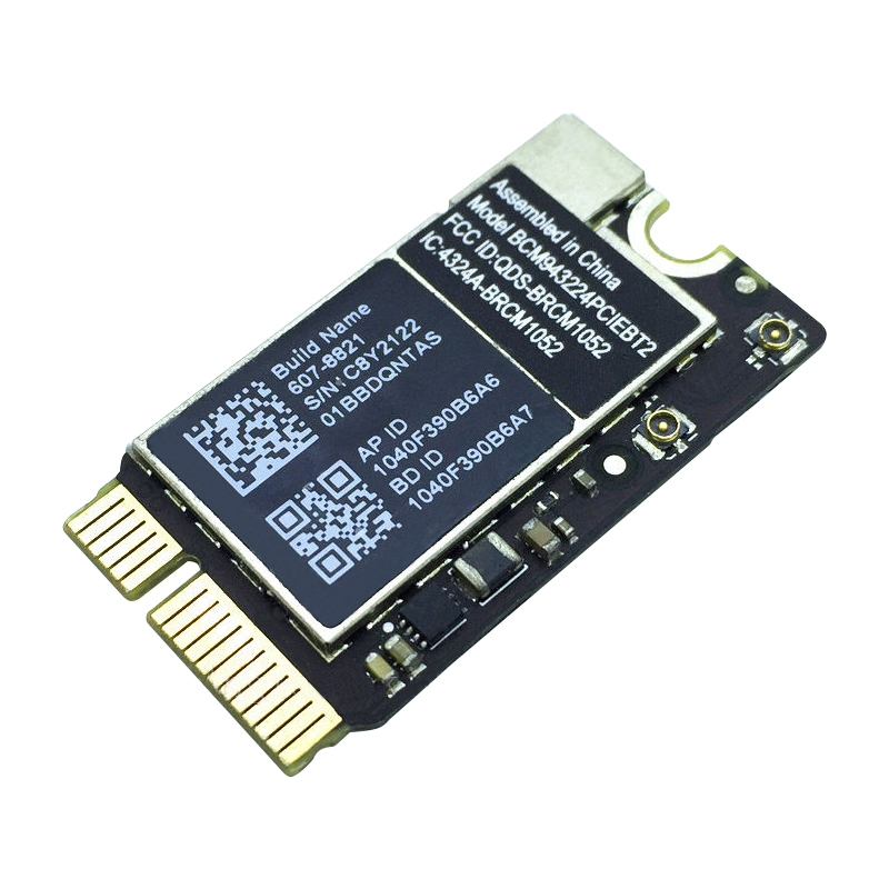 Replacement for Macbook Air 13.3 inch A1369 (2010-2011) & 11.6 inch A1370 (2010-2011) & A1465 (2012) WiFi & Bluetooth Network Module