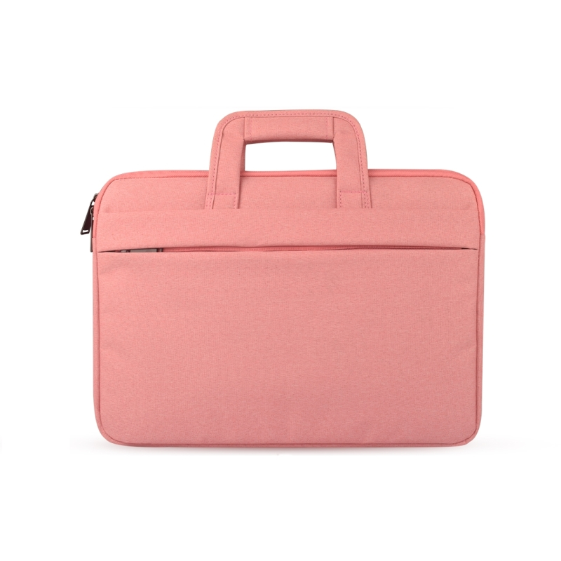 Universal Double Side Pockets Wearable Oxford Cloth Soft Handle Portable Laptop Tablet Bag, For 12 inch and Below Macbook, Samsung, Lenovo, Sony, DELL Alienware, CHUWI, ASUS, HP (Pink)