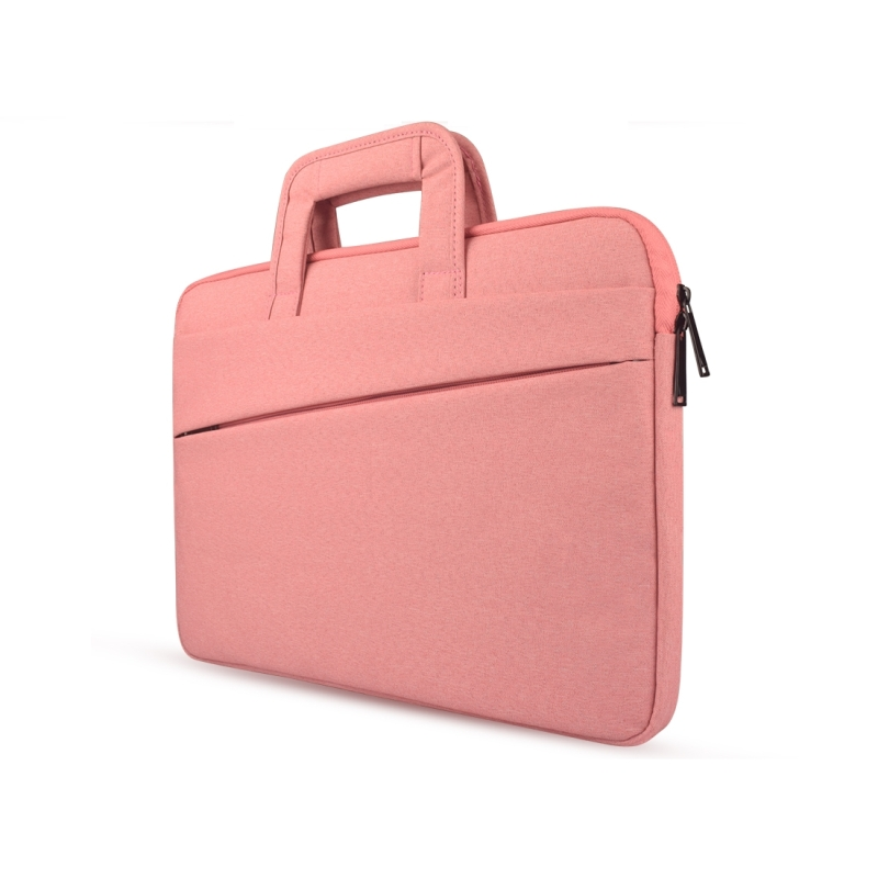 Universal Double Side Pockets Wearable Oxford Cloth Soft Handle Portable Laptop Tablet Bag, For 13.3 inch and Below Macbook, Samsung, Lenovo, Sony, DELL Alienware, CHUWI, ASUS, HP (Pink)