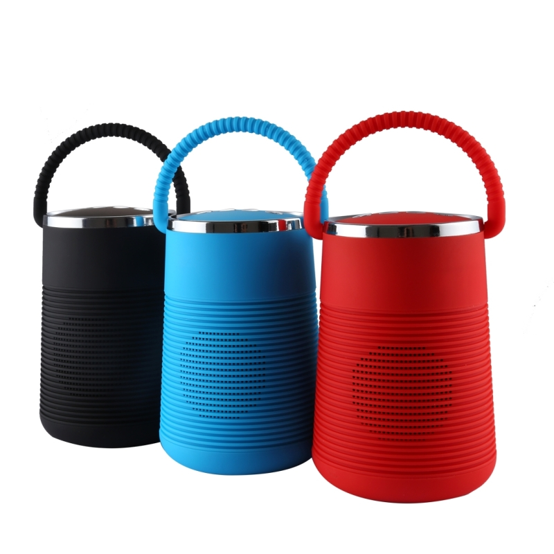 X27 Portable Stereo Music Wireless Bluetooth Speaker, Built-in MIC, Support Hands-free Calls & TF Card & AUX Audio & FM Function, Bluetooth Distance: 10m (Red)
