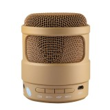 S-13 Portable Stereo Music Wireless Bluetooth Speaker, Built-in MIC, Support Hands-free Calls & TF Card & AUX Audio & FM Function, Bluetooth Distance: 10m (Gold)