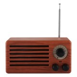 New Ri Xing NR-3013 Portable Wood Texture Retro FM Radio Wireless Bluetooth Stereo Speaker with Antenna, For Mobile Phones / Tablets / Laptops, Support Hands-free Call & TF Card & AUX Input & USB Drive Slot, Bluetooth Distance: 10m