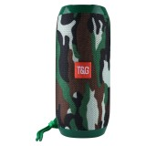 T&G TG117 Portable Wireless Bluetooth V4.2 Stereo Speaker with Rope, with Built-in MIC, Support Hands-free Calls & TF Card & AUX IN & FM, Bluetooth Distance: 10m (Green)