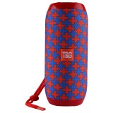 T&G TG117 Portable Wireless Bluetooth V4.2 Stereo Speaker with Rope, with Built-in MIC, Support Hands-free Calls & TF Card & AUX IN & FM, Bluetooth Distance: 10m (Red)