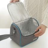 Oxford Cloth Thermal Insulation Cooler Lunch Bag Picnic Bento Box, 22*16*20cm