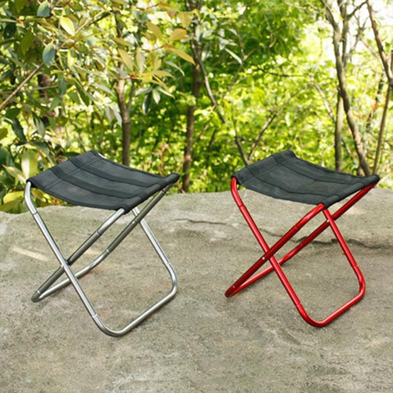 Wondrous Outdoor Portable Folding Stool 25 22 26Cm Silver Uwap Interior Chair Design Uwaporg