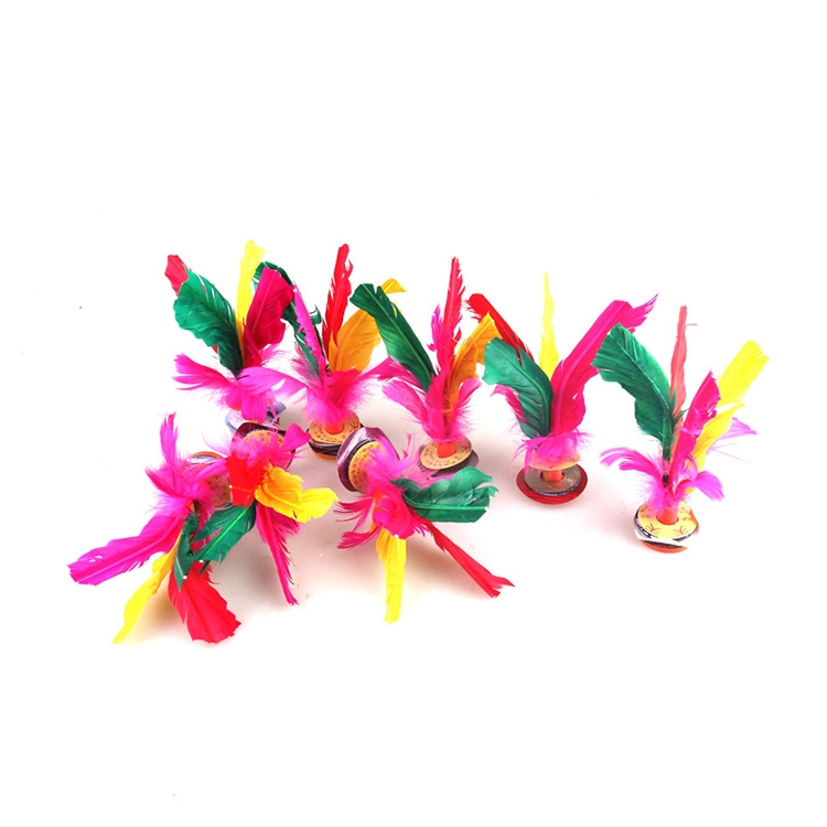 5 PCS Colourful Feather Kick Shuttlecock Foot Exercise Toy