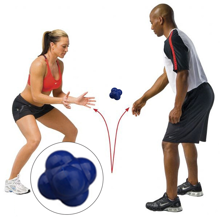 Hexagonal Reaction Ball Quickness and Agility Training Ball, Training Hand and Eye Coordination (Blue)