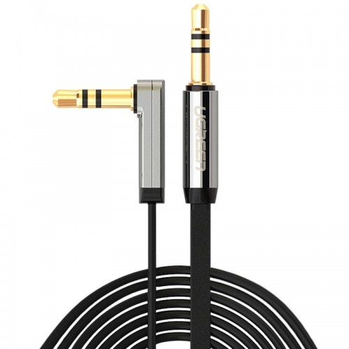 Ugreen 3.5mm Male to 3.5mm Male Elbow Audio Connector Adapter Cable Gold-plated Port Car AUX Audio Cable, 3m