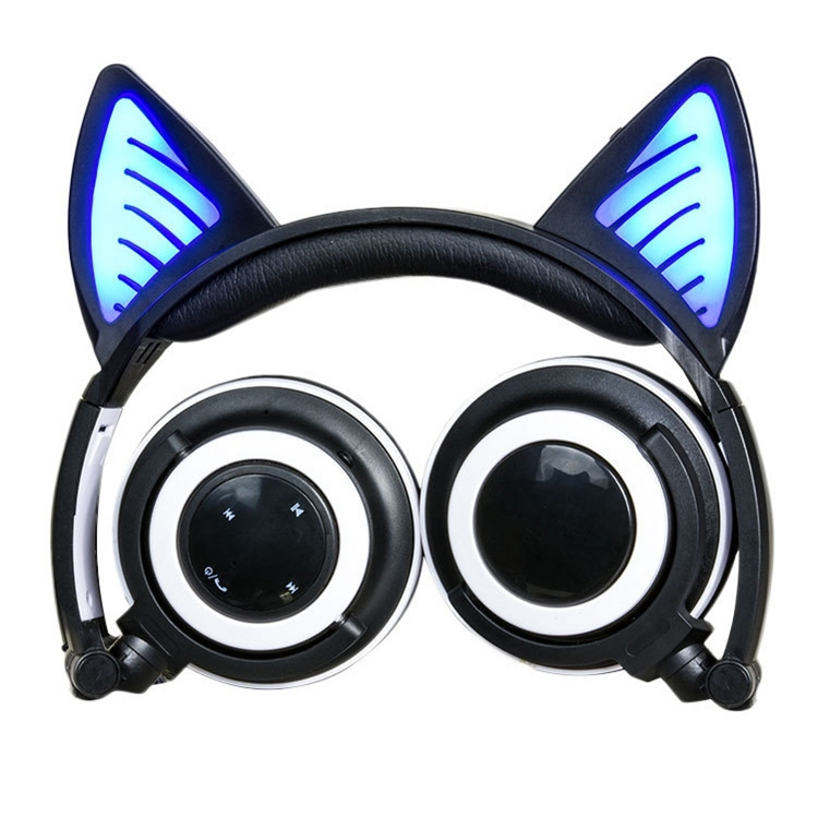 Foldable Wireless Bluetooth V4 2 Glowing Cat Ear Headphone Gaming Headset With Led Light Mic For Iphone Galaxy Huawei Xiaomi Lg Htc And Other Smart Phones Black Alexnld Com
