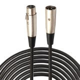 15m 3-Pin XLR Male to XLR Female MIC Shielded Cable Microphone Audio Cord