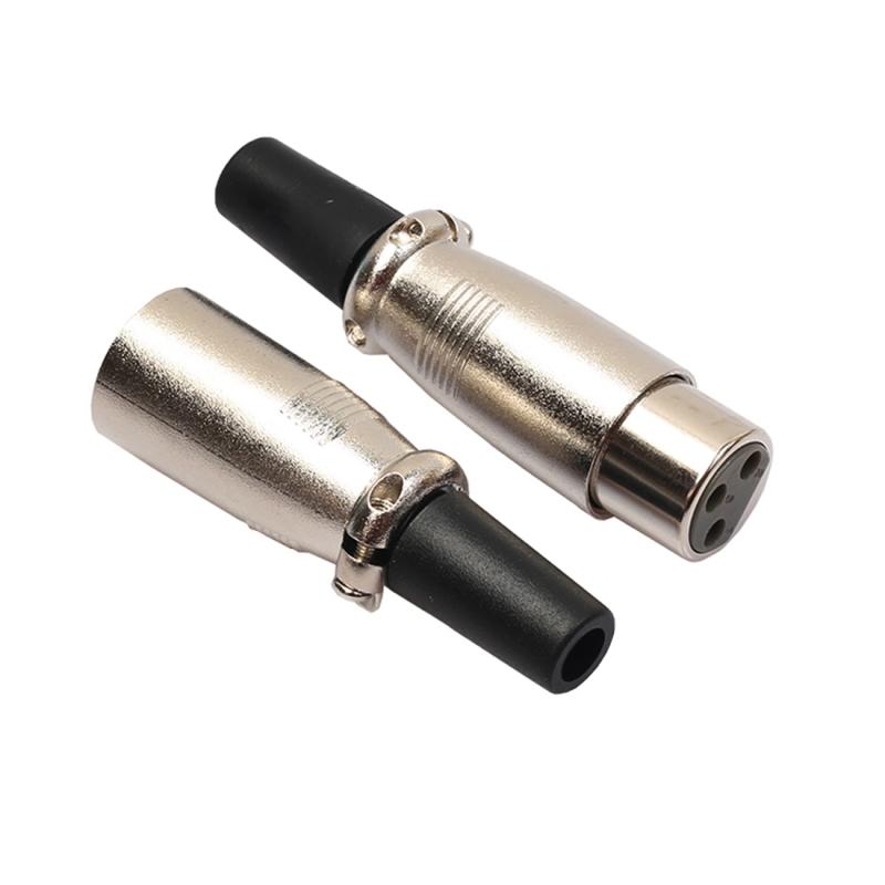 10 Pairs 3 Pin XLR Plug Male + Female Jack Mic Jack Plug Socket Connector