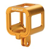 PULUZ Housing Shell CNC Aluminum Alloy Protective Cage with Insurance Frame for GoPro HERO5 Session /HERO4 Session /HERO Session (Gold)