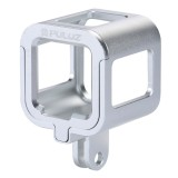 PULUZ Housing Shell CNC Aluminum Alloy Protective Cage with Insurance Frame for GoPro HERO5 Session /HERO4 Session /HERO Session (Silver)